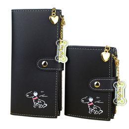 dark chocolate dogs 2019 - Women Wallets Lady Purses Clutch Coin Purse Money Bags Cards Id Holder Long Short Woman Wallet Handbags Burse Cute Dog B