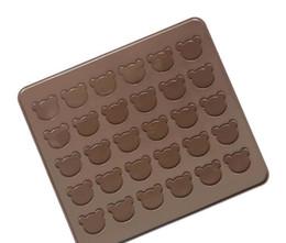 $enCountryForm.capitalKeyWord NZ - DIY silicone operating case board silicone bear mat 30 hole round macaron pad 29*26cm