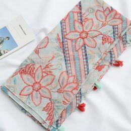 $enCountryForm.capitalKeyWord Australia - Cotton and Linen Scarves Literary Small Fresh New Retro Ethnic Style Tassel Decorative Sunscreen Shawl Beach Towel