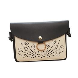 Hollow Fiber Australia - Cheap Women Hollow Out Cover Leather Crossbody Bag Women Hasp Messenger Shoulder Coin Bag Handbag Cross Body Bag Anti Theft Phone #YL