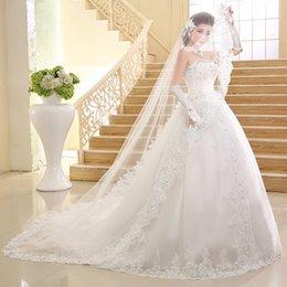 $enCountryForm.capitalKeyWord NZ - Customizable Korean wedding dress 2019 new tube top bride long trailing lace veil close-fitting strap party skirt