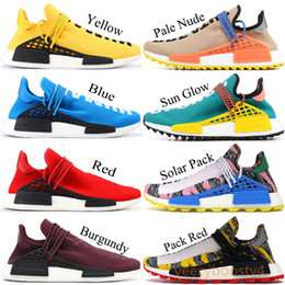 8de6e7233 NMD Human Race Pharrell Running Shoes Solar Pack Friends and Family  Burgundy Men Women Designer Sneakers Sport Shoes With Box 36-45
