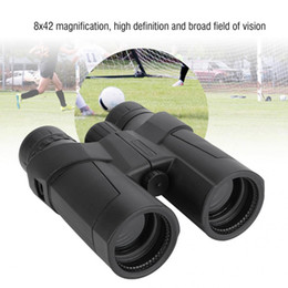 large telescopes 2019 - Professional 8x42 Large Eyepiece Green Film Binoculars HD Outdoor Hunting Portable Telescope cheap large telescopes