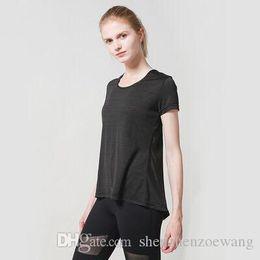 $enCountryForm.capitalKeyWord Australia - New yoga jacket women's short sleeved sportswear yoga outdoor tights fast running coat dual purpose T shirt