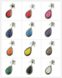$enCountryForm.capitalKeyWord Australia - Fashion design DIY Necklace Pendant scarf jewelry mixed color masonry mixed glamour resin water drop jewelry scarf pendant, free of freight,