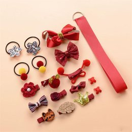 Gifts For Infant Girls Australia - Baby Girl Bow Flower Hair Clip Mini Barrettes Star Kids Infant Princess Hairpin 18pcs set For Girls Gift
