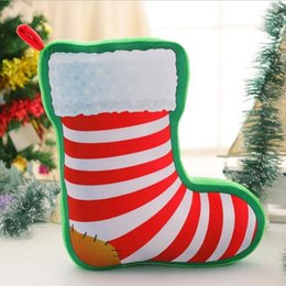 socks games NZ - 1 Pcs Christmas Series Plush Toys Printed Santa Claus Deer Socks Hang Plush Decorations Toy Children's Gifts