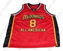 67dd2d28078 wholesale Kobe Bryant  8 McDonald s All American Basketball Jersey Red  Stitched Custom any number name MEN WOMEN YOUTH BASKETBALL JERSEYS