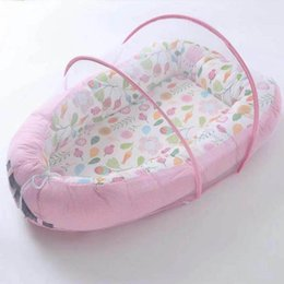 Discount baby travel beds portable - New Hot Baby Bassinet for Bed Lounger Breathable Hypoallergenic Cotton Portable Crib for Bedroom Travel Dropshipping