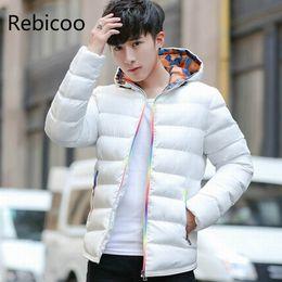 Hooded Parka Mens White Australia - Brand Winter Jacket 2019 New Arrival Parka Coat Men Thick Male Warm Wadded Coat Mens Waterproof Parka Fashion parkas