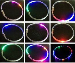 Discount wedding favors light up 6lights Led Necklace Light Up Christmas and New Year Gift Party Favors Decor For Adults Kids Glow Party dancing Supplies