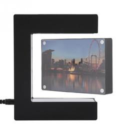 Picture frames led lights online shopping - Electronic Magnetic Levitation Floating Photo Frame With Led Lights Novelty Gift Home Decoration Pictures Frames J190716
