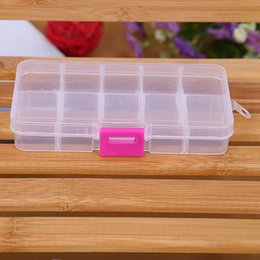 bait boxes wholesale NZ - High quality Portable 10 grid Bait Organizer Box Fishing Lures Case Tackle Storage Fisher Gear Bulk strong plastic