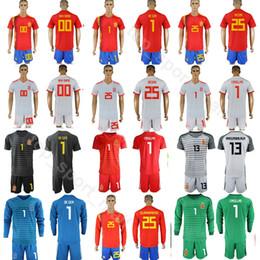 a0ee94920 Men Goalkeeper Spain David De Gea Jersey 2018 World Cup Iker Casillas Pepe  Reina Football Shirt Kits ARRIZABALAGA Pant