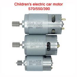 ride car toys UK - Children's toy electric car motor,12V DC motor 550 390 for kids ride on car,motor for kid's electric vehicle 570 35000rpm engine