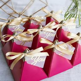 candy box bag chocolate cookies gift for Birthday Wedding Party Decor craft DIY favor baby shower rose color