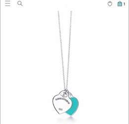 Wholesale Have stamps 925 STERLING SILVER heart designer necklace for lady Design Womens Party Wedding engagement Luxury Jewelry for Bride
