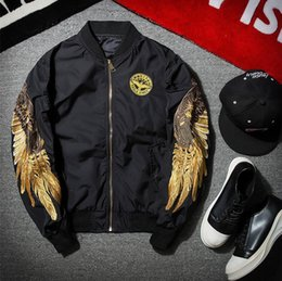 6886c68b1f525a good quality Spring Jacket Men Jaqueta Masculina Eagle Wing Embroidery Ma1  Bomber Jacket Ma-1 Air Force One Pilot Jackets Coat Men