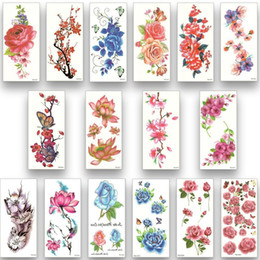 female foot tattoos 2019 - Waterproof Temporary Tattoos Water Transfer Flower Stickers Beauty Health women girl female sexy Makeup Swimwear decorat