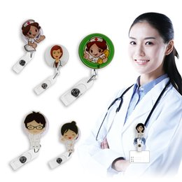 Wholesale Nurse Retractable Badge Reel Pull ID Card Badge Holder Belt Clip Hospital School Office