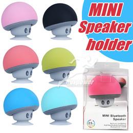 smallest portable speakers for iphone 2019 - Hot Cartoon mini mushroom Wireless Bluetooth Speaker holder portable outdoo small stereo speaker for Mobile Phone iPhone