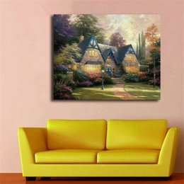 $enCountryForm.capitalKeyWord NZ - Thomas Kinkade Winsor Manor HD Wall Art Canvas Poster And Print Canvas Painting Decorative Picture For Office Bedroom Home Decoracion