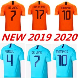 40d1d9b462a 2019 2020 Netherland soccer jerseys DE JONG Holland football kits shirt DE  LIGT VAN DIJK VIRGIL jersey STROOTMAN MEMPHIS PROMES football