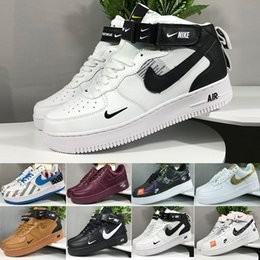 nike air force 1 one 2019 Nuevas llegadas Fuerzas Volt Zapatos para correr Mujeres Hombres Entrenadores Forced One Sports Skateboard Classic 1 Green White Black Warrior Sneakers en venta
