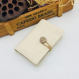 $enCountryForm.capitalKeyWord Australia - Designer-Women Cotton and linen Bank Card Package Coin Bag Card Holder Travel Leather Men Wallets Women Credit Card Holder Cover