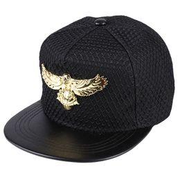 $enCountryForm.capitalKeyWord Australia - hip hop hat European and American Eagles metal logo hip hop cap baseball cap men's and women's outdoor sun net cap visor
