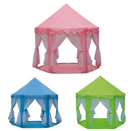 $enCountryForm.capitalKeyWord NZ - Portable Children's Tent Toy Ball Pool Princess Girl's Castle Play House Kids Small House Folding Playtent Baby Beach Tent