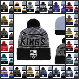 261f6508 LOS ANGELES KINGS Knit Hat Hockey beanies Caps NEW YORK RANGERS Knit Hat  Hockey beanies Caps Knit Beanies Hat Embroidery cap Stitched Hats