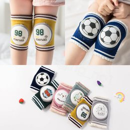knee socks cover 2020 - Baby Knee Pads Football Toddler Crawling Ankle Socks Boys Knee Protector Kneecaps Summer Anti-Slip Kneepad outdoor Leg C