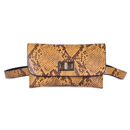 printed waist bag Australia - Women Waist Bag Fashion Snake Print Belt Bag Small Women Fanny Pack PU Leather Classic Female Waist Belt