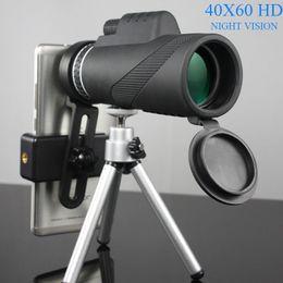 Discount telescope powerful - 40x60 HD Monocular Powerful Binoculars High Quality Zoom Great Handheld Telescope Night Vision Professional Hunting A