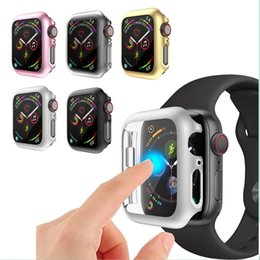 $enCountryForm.capitalKeyWord Australia - Full coverage smart watch case For apple watch 1 2 3 4 Hard Armor PC cover For iwatch 38mm 40mm 42mm 44mm transparent Screen Protector fram