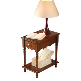 EuropEan tElEphonE antiquE online shopping - New European classical style simple wood sofa edge several corners flower shelf tea table side cabinet telephone coffee table Bedside table