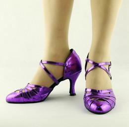 5eb32f14e8 Zapatos de baile latinos / modernos con diseño de serpentina azul suave  Suela blanda Zapatos de baile de salón Zapatos de baile cuadrados para mujer