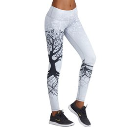 Vente en gros Mode 3d Imprimé Leggings Femmes Push Up Leggings Taille Haute 3d Arbre Numérique Imprimer Mince Polyester Harajuku Legging Xs-L