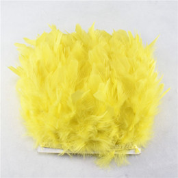 ostrich plumes sale Australia - 10m pack Yellow Turkey Feather Fringe Trimming Marabou Feather Trimming Skirt Dress Feather Trim Bordure De Plumes Borde De Plumas For Sale