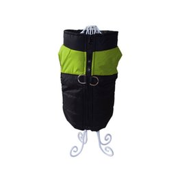 dog clothes xxl winter UK - Waterproof Pet Dog Vest Jacket Winter Warm Big Dog Clothing For Small Large Dogs Bulldog For For Small Medium Dog Green XXL