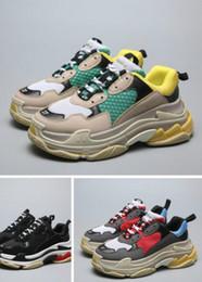 $enCountryForm.capitalKeyWord NZ - Hot!! 2019 cheap for men Paris 17FW Triple-S Triple S Casual Dad Shoes for Men's Women Beige Black Sports Tennis Shoe 36-45