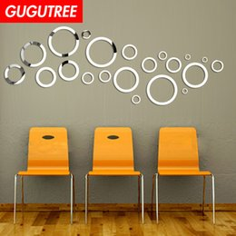 round glasses korean style Australia - Decorate Home 3D round cartoon mirror art wall sticker decoration Decals mural painting Removable Decor Wallpaper G-280
