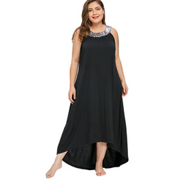Gamiss Plus Size 5xl Sequins Collar Sleeveless Long Maxi Dress Women Summer  Sexy Black O-neck Elegant Party Dress Boho Vestidos Y19012201 dde75d3171a9