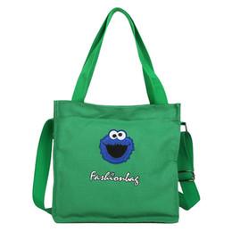 $enCountryForm.capitalKeyWord UK - Personality Cute Female Cartoon Canvas Shoulder Bag Large Capacity Light Weight Outdoor Travel Handbag Casual Shoulder Bags Messenger Packs