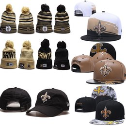 EmbroidErEd logos hats online shopping - 2020 Orleans winter beanies Saints Adjustable Hats Embroidery Team Logo Snapback All Team Wholeasle Knit new warm outdoor Caps