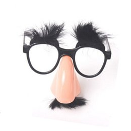 big nose costume Australia - Party Accessory Mustache Fake Nose Eyebrow Clown Funny Costume Props Party Glasses Big Nose Beard Glasses