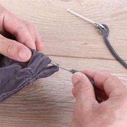 $enCountryForm.capitalKeyWord Australia - 2PCS Stainless Steel Cited Clip Elastic Belt Wearing Rope Weaving Tool Bag Wrap Rope Wearing Sewing Accessories