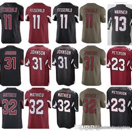 Fitzgerald Jerseys UK - Arizona 3 Carson Palmer 11 Larry Fitzgerald 13 Kurt  Warner Jersey Cardinal 699600675