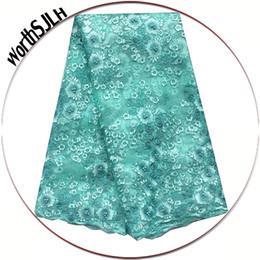 $enCountryForm.capitalKeyWord UK - Aqua Latest African Laces 2019 Dubai Bridal Tulle French Cord lace Fabric Beads Purple Nigerian Lace Fabrics For Party Dress